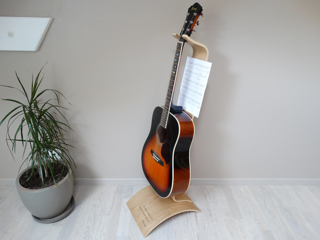 support guitare ajustable bois