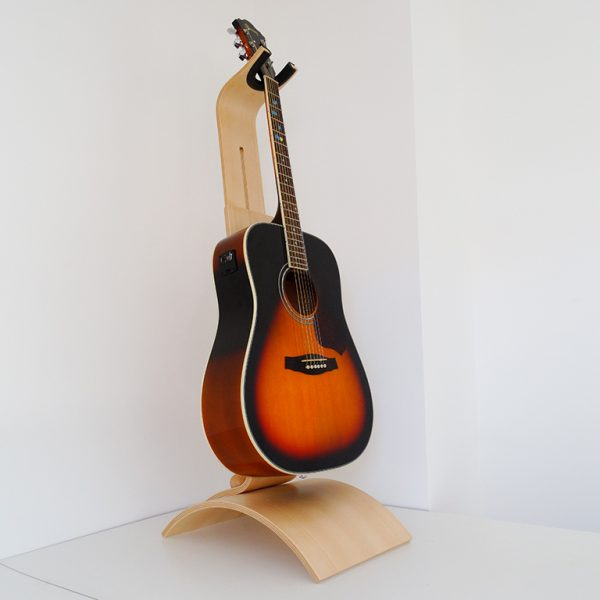 Support guitare en bois de hêtre