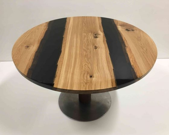 Table epoxy chene metal
