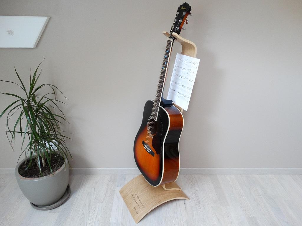 support guitare ajustable bois