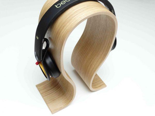 support casque original en bois