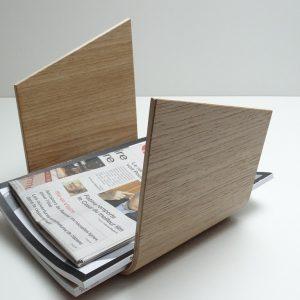 SUPPORT MAGAZINE EN BOIS CINTRE 1 300x300 - Porte revue en bois cintré