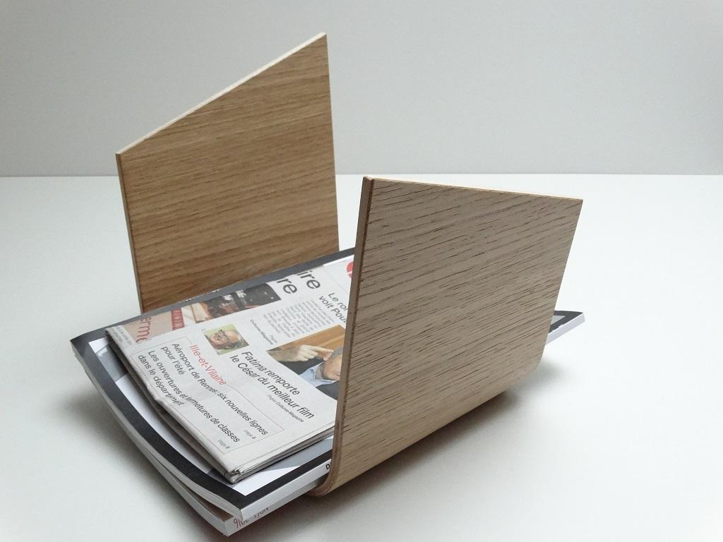 SUPPORT MAGAZINE EN BOIS CINTRE 1 - Porte revue en bois cintré