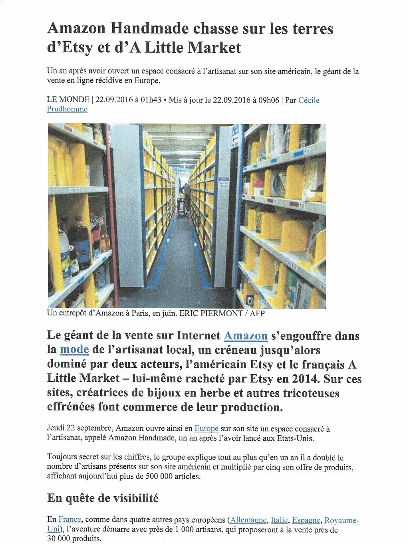 Atelier 1053 sur LE MONDE 22/09/2016