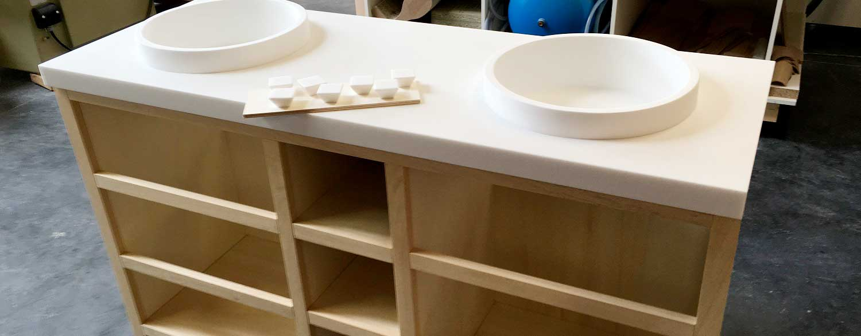 meuble salle de bain 03 - Salle d'eau Acajou