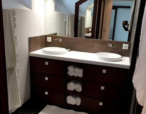 meuble salle de bain 05 - Salle d'eau Acajou
