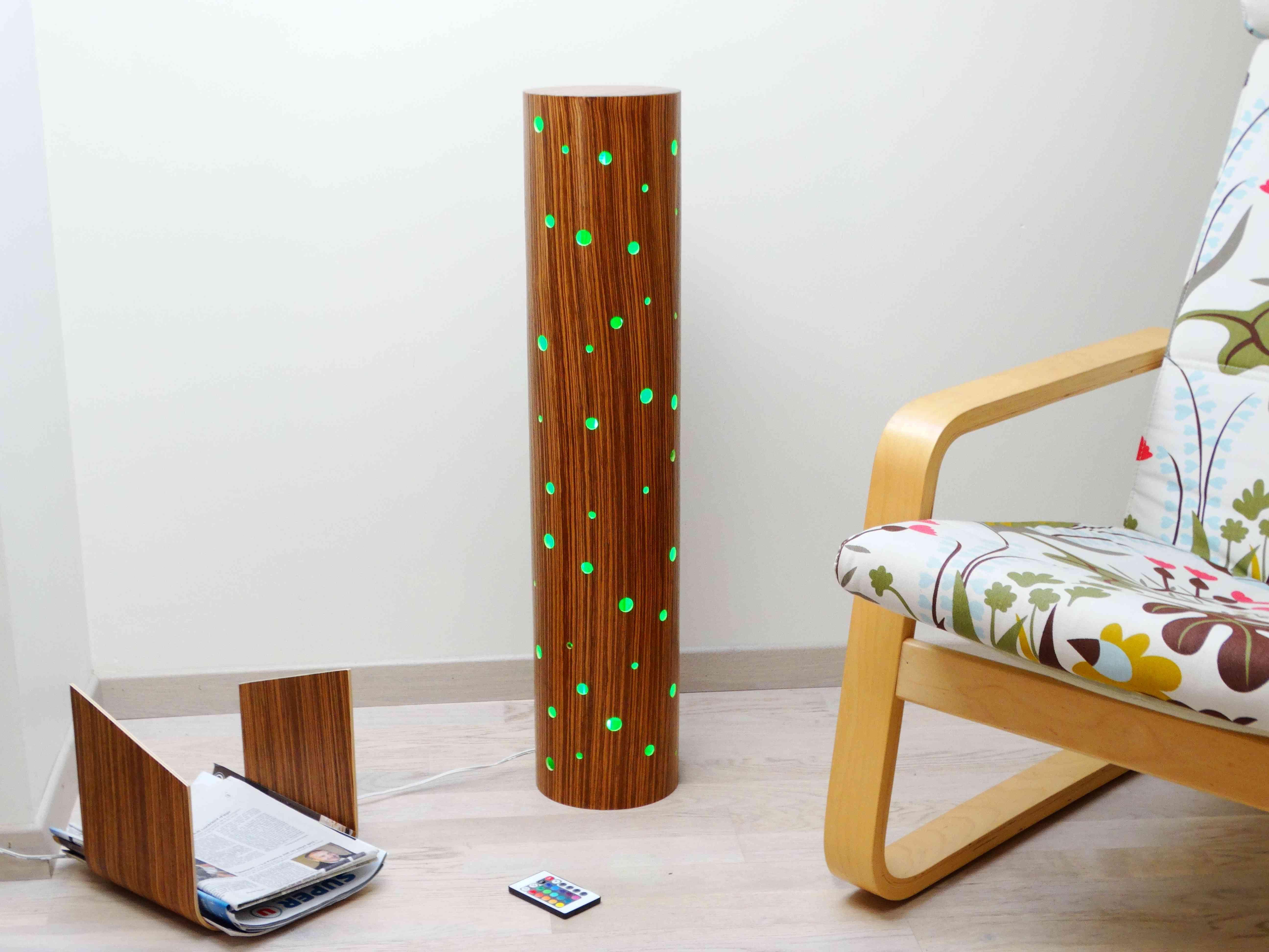 lampe originale en bois LED