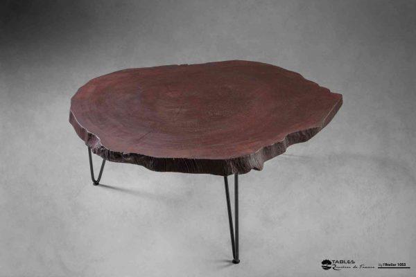 Table basse en tronc de platane