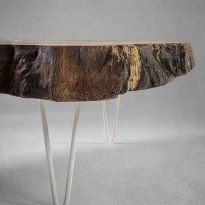 table basse bois et blanche par Atelier 1053