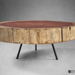 table basse séquoias résine métal