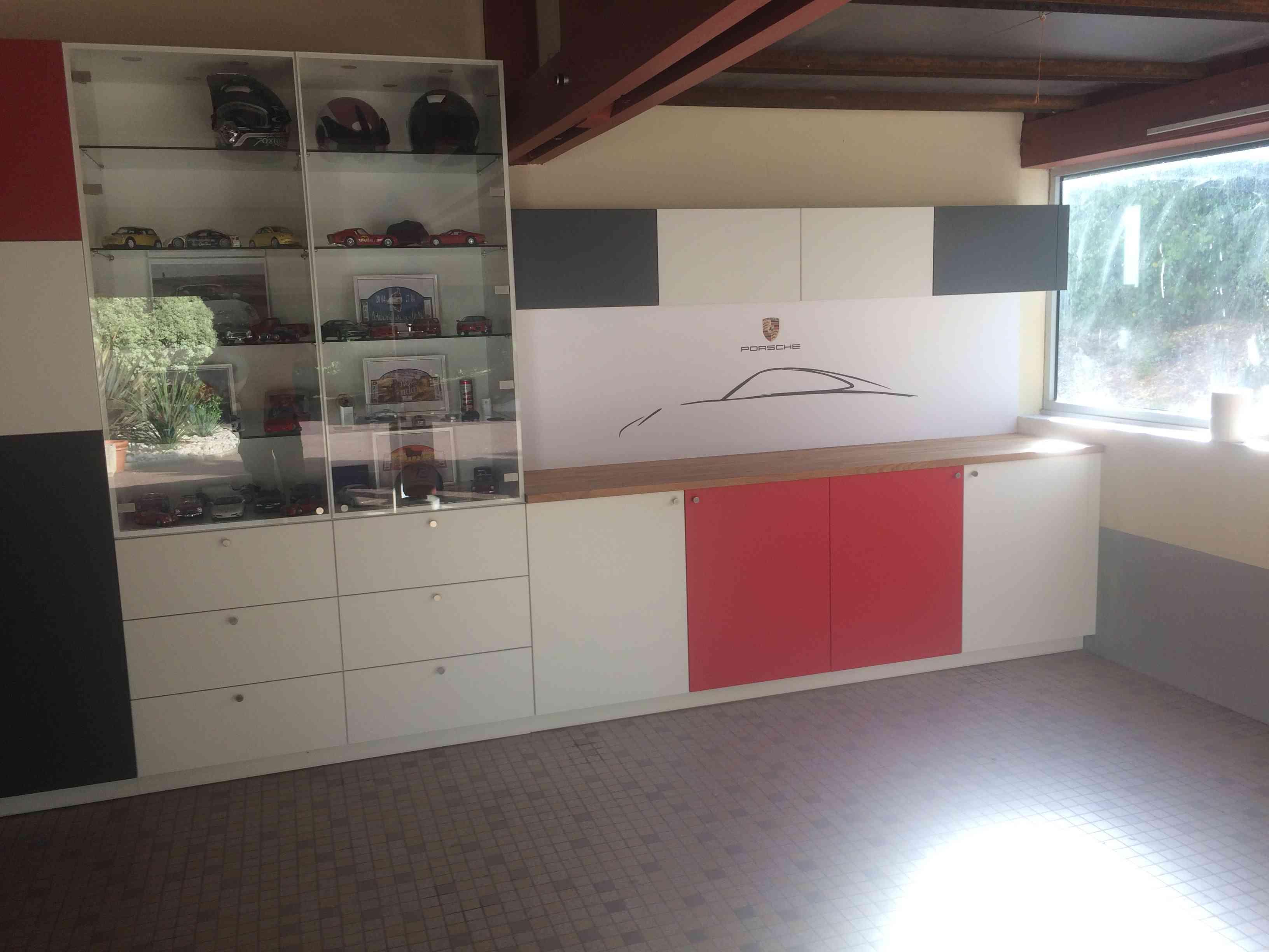 1 Agencement garage passionné porsche 5 - Les agencements atypiques