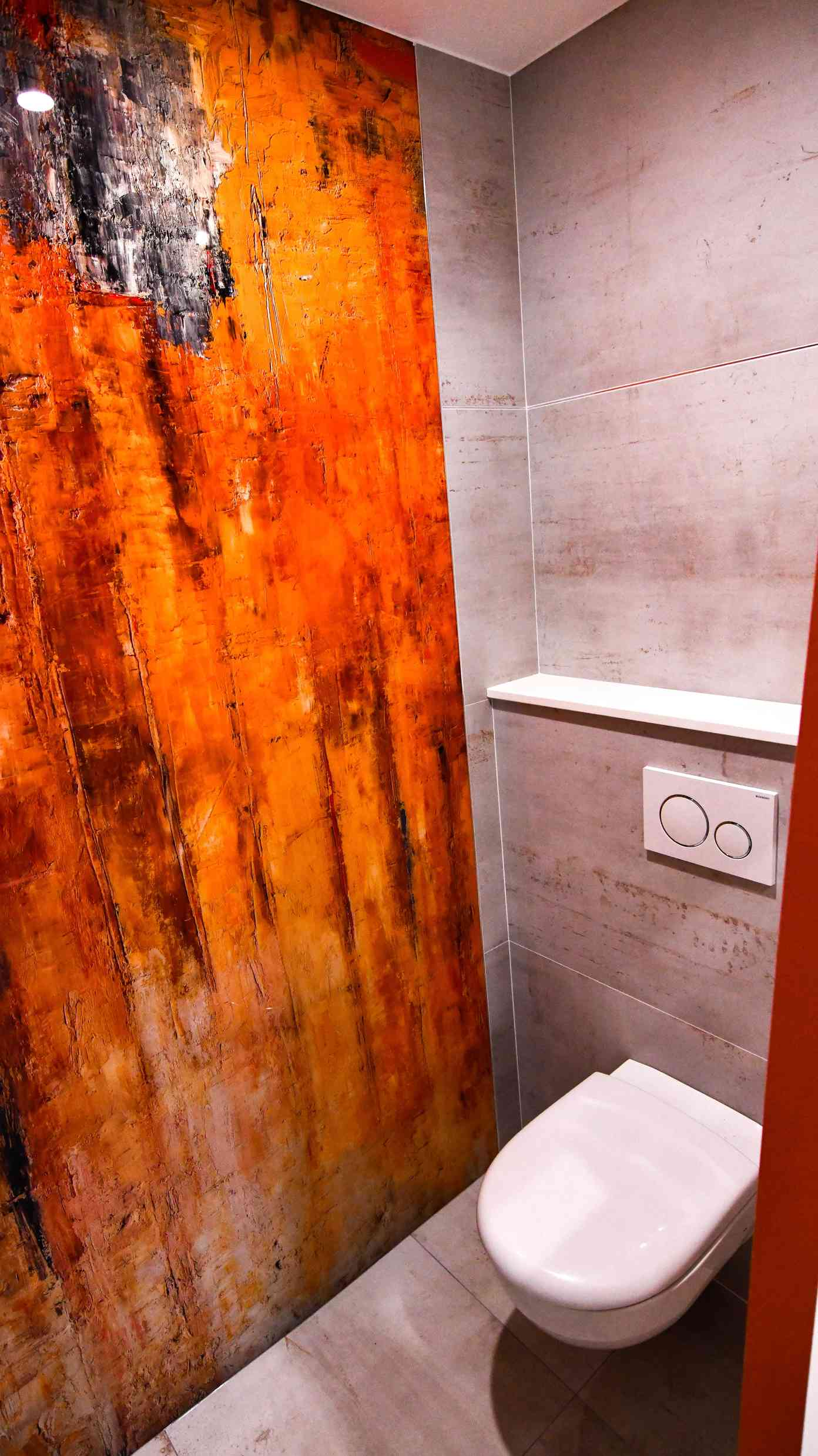 1 Salle de bains contemporaine aux lignes courbées 4 - Salle de bains contemporaine aux lignes courbées
