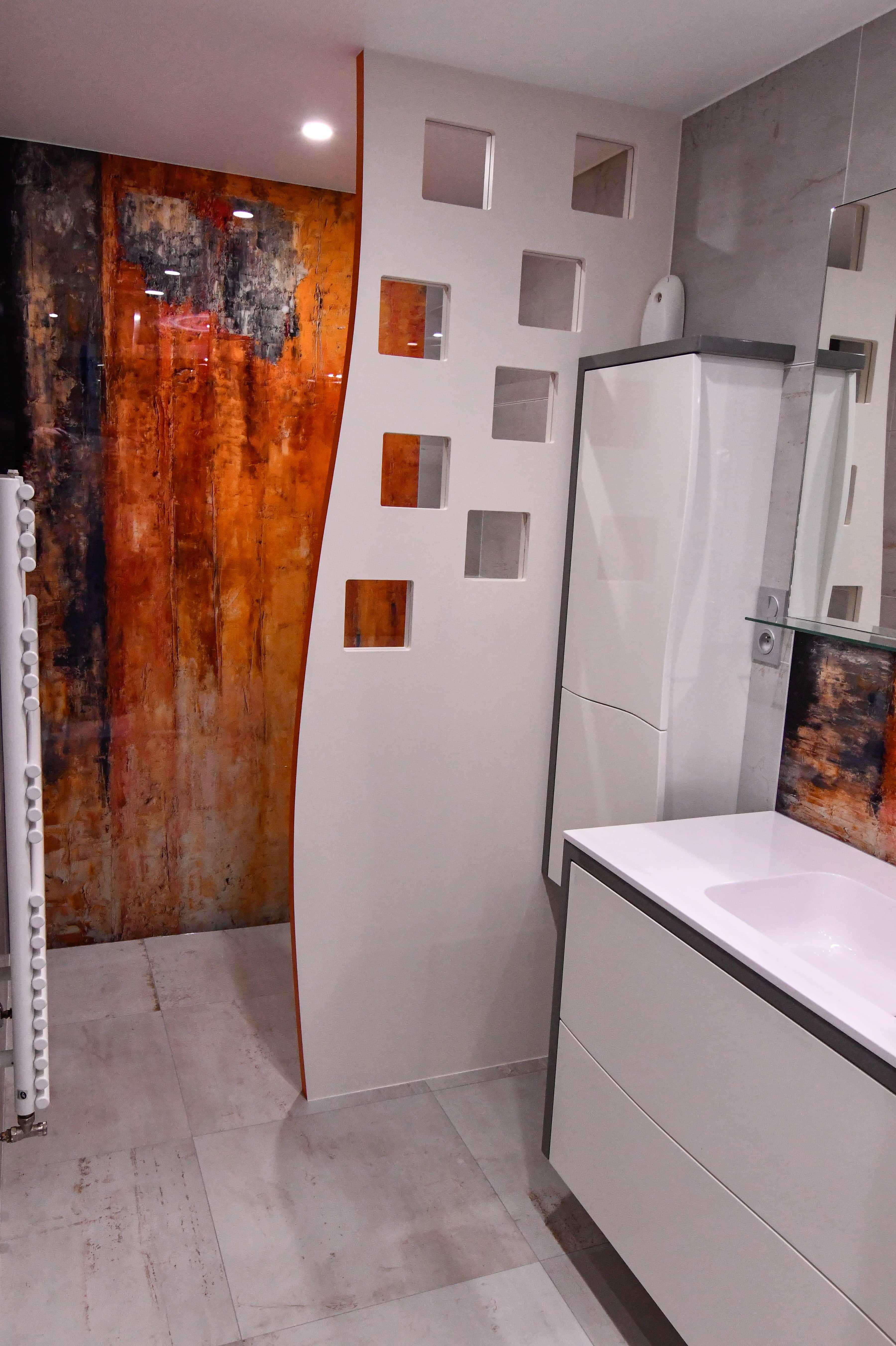 1 Salle de bains contemporaine aux lignes courbées 7 - Salle de bains contemporaine aux lignes courbées