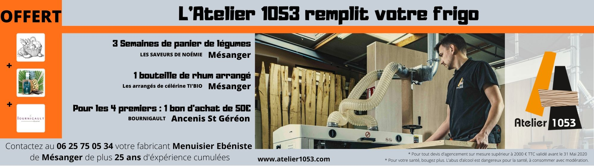votre cuisiniste rempliT votre frigo - L'Atelier 1053