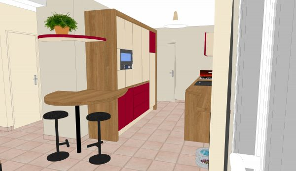 10 cuisine coté frigo 600x348 - 3D :PLANAT'5
