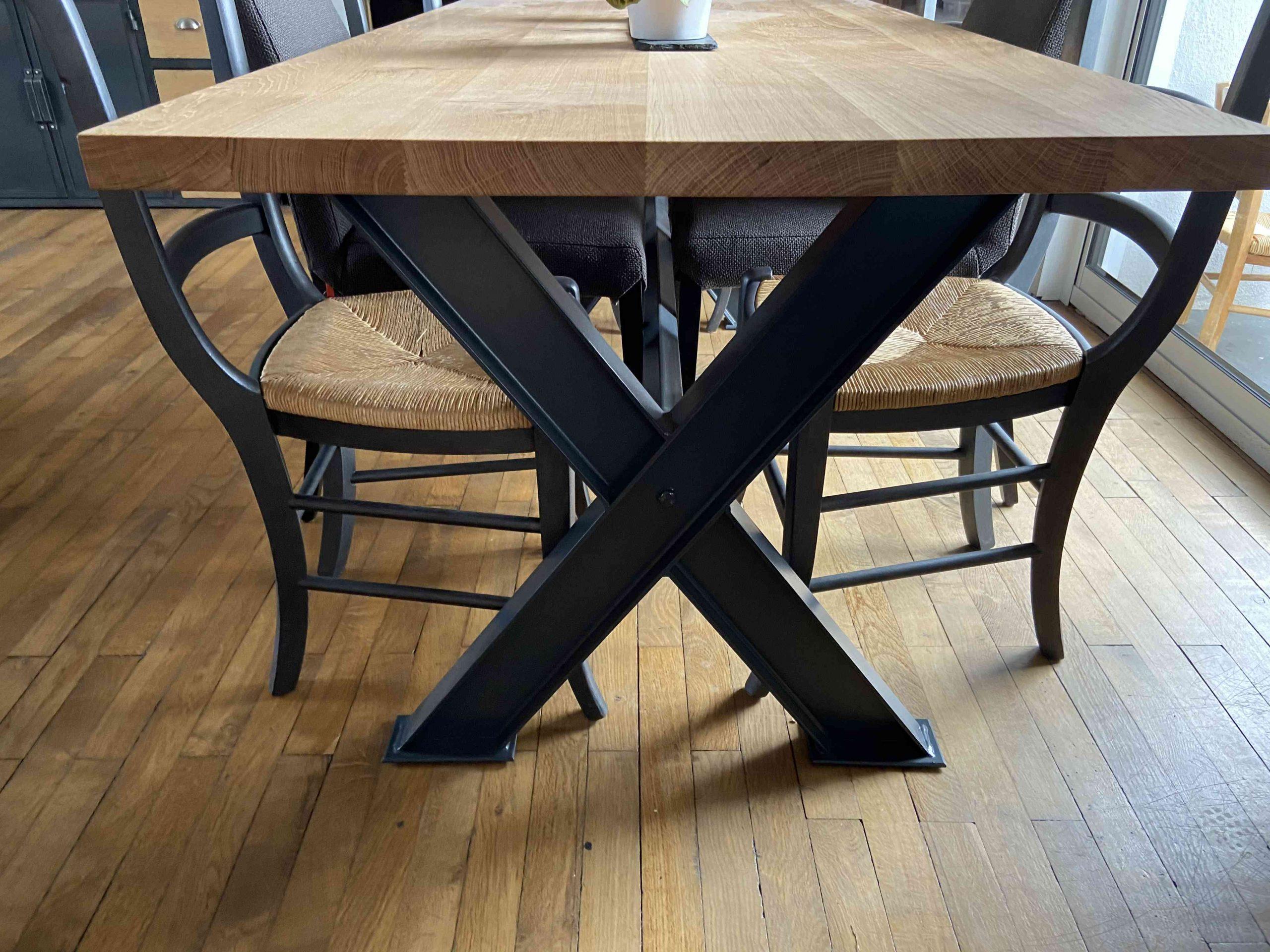 IMG 1857 1 scaled - Table de séjour chêne & métal