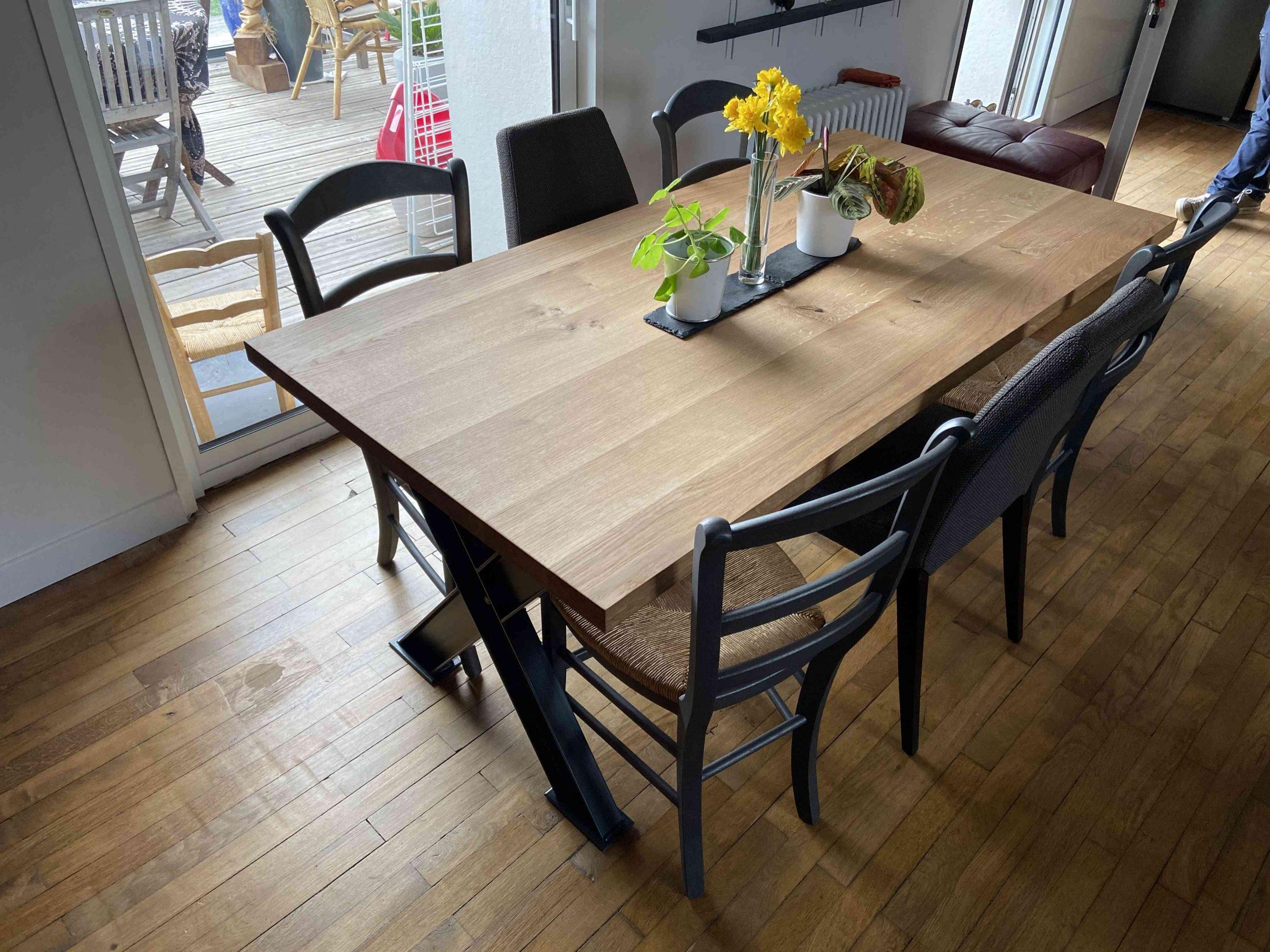 IMG 1859 1 scaled - Table de séjour chêne & métal