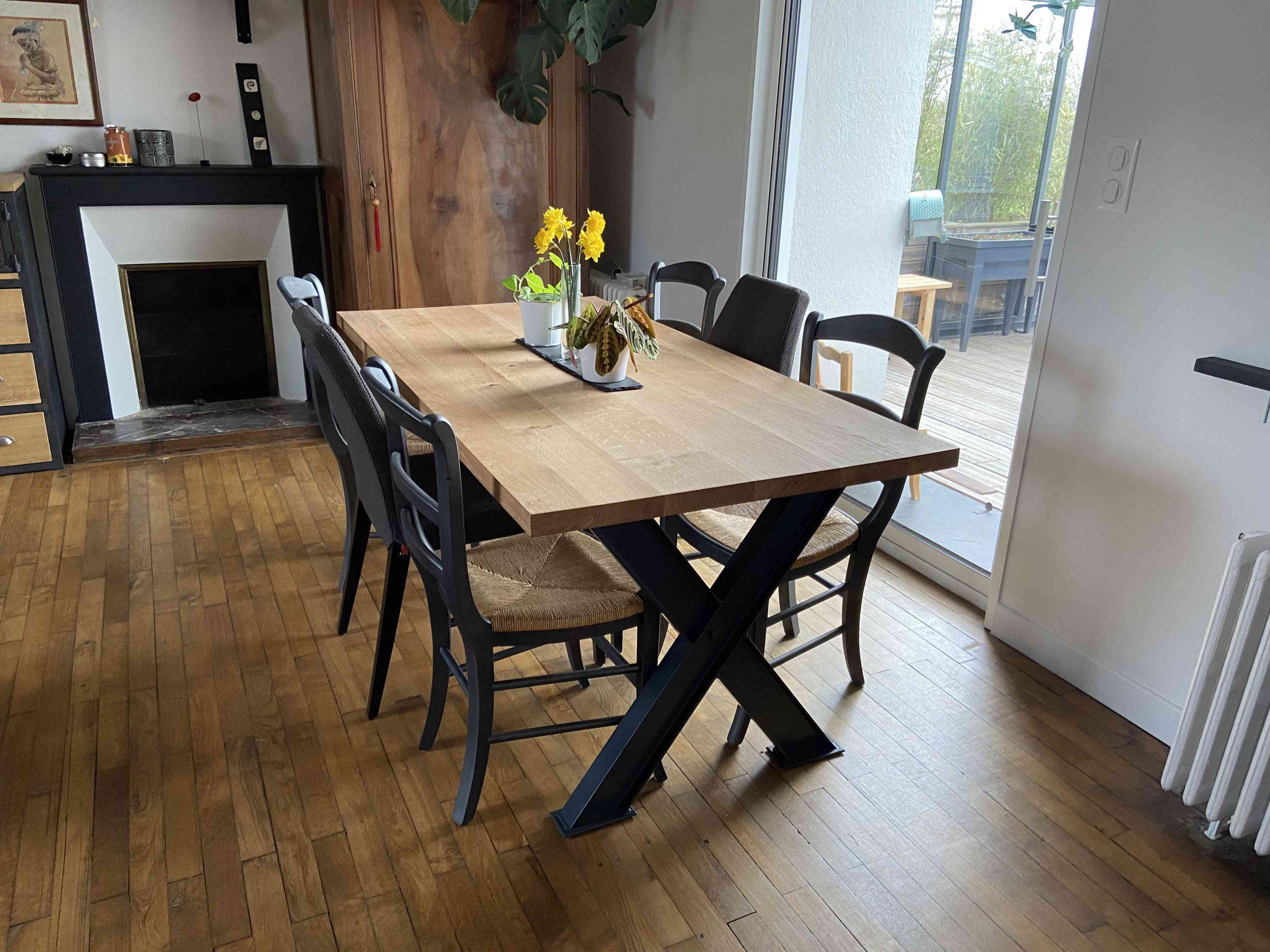 IMG 1860 1 scaled - Table de séjour chêne & métal
