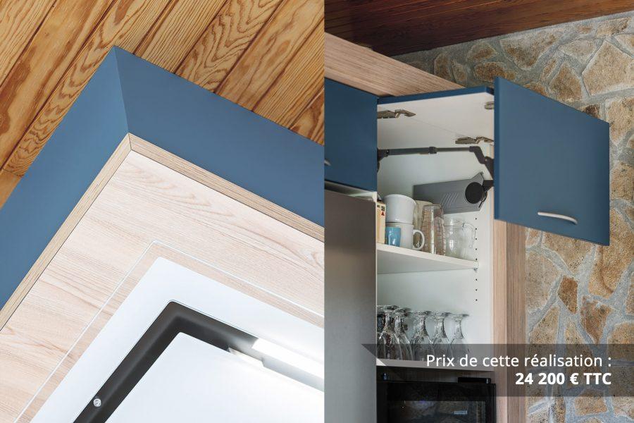 cuisine bleu petrole et frene avec plan de travail arrondi img 7 e1608045946578 - Cuisine Bleu pétrole et Frêne avec plan de travail arrondi