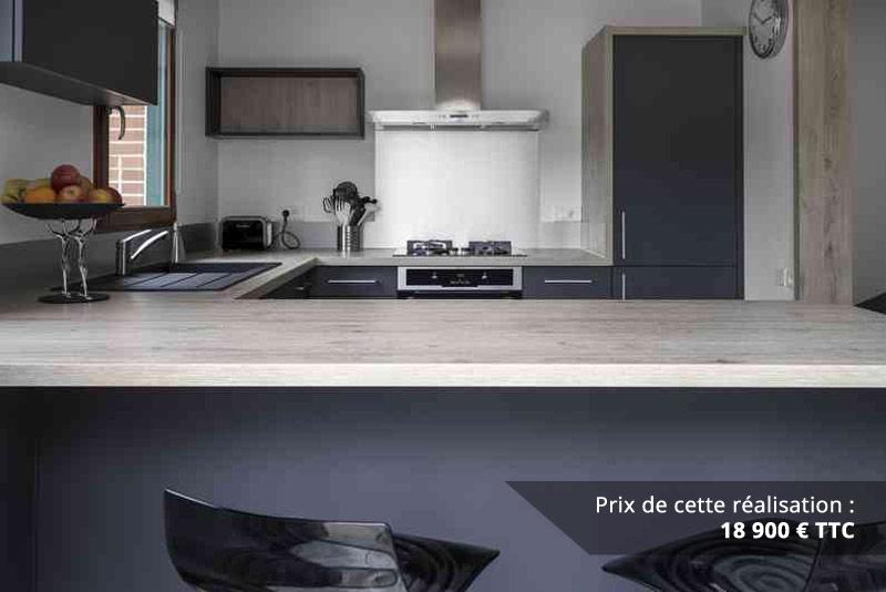 cuisine chene gris anthracite inox img 4 - Cuisine Chêne gris Anthracite Inox