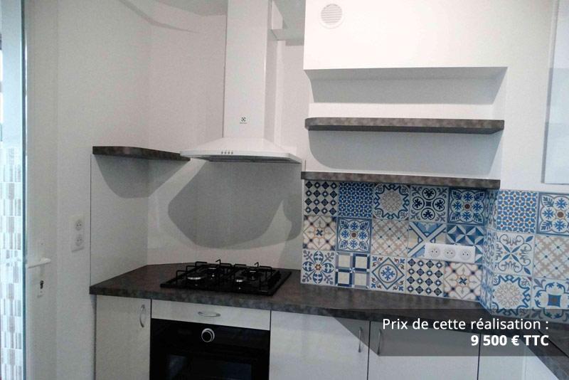 cuisine sur mesure avec credence carreaux de ciment img 2 - Cuisine sur mesure avec crédence carreaux de ciment
