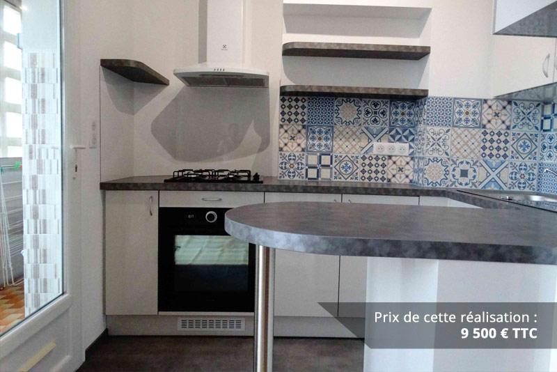 cuisine sur mesure avec credence carreaux de ciment img 3 - Cuisine sur mesure avec crédence carreaux de ciment