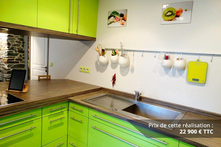 cuisine sur mesure laquee vert img 1 e1608046102562 - Cuisine sur mesure laquée vert