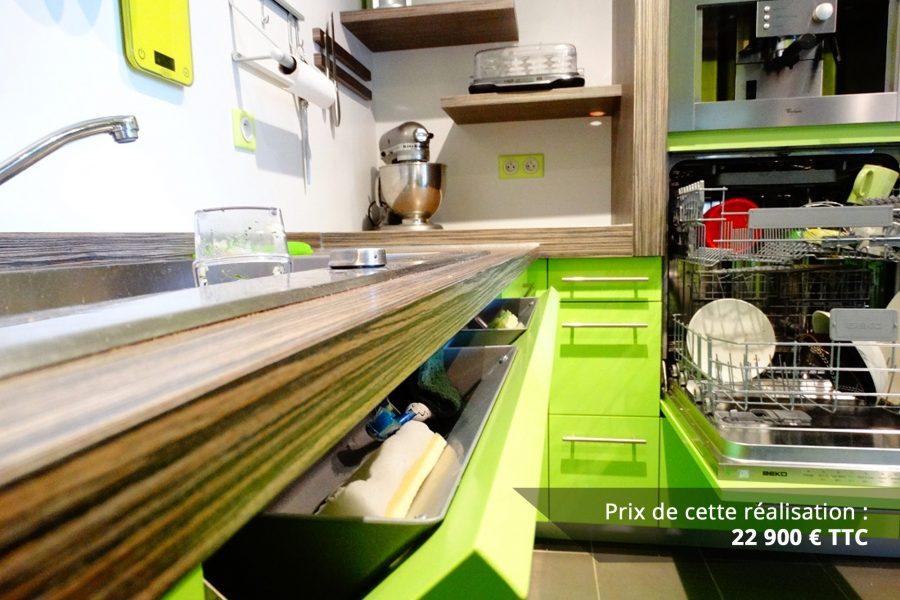 cuisine sur mesure laquee vert img 2 e1608046112254 - Cuisine sur mesure laquée vert