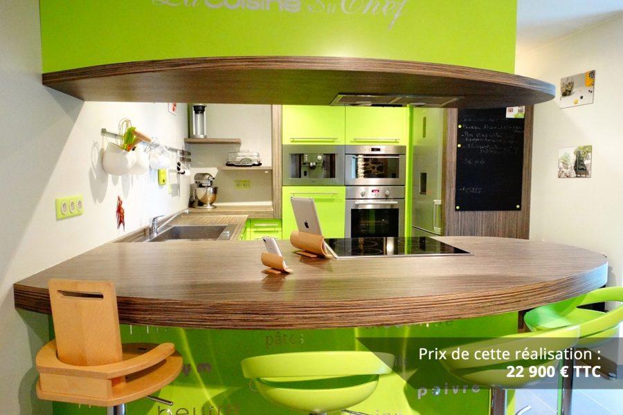cuisine sur mesure laquee vert img 3 e1608046121311 - Cuisine sur mesure laquée vert