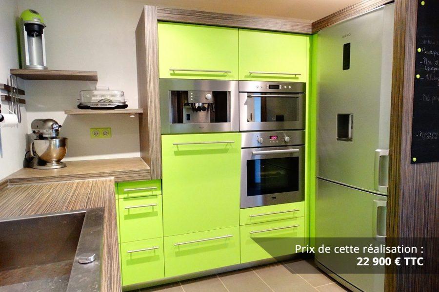 cuisine sur mesure laquee vert img 4 e1608046128792 - Cuisine sur mesure laquée vert
