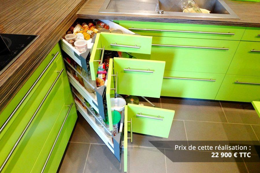 cuisine sur mesure laquee vert img 6 e1608046145618 - Cuisine sur mesure laquée vert