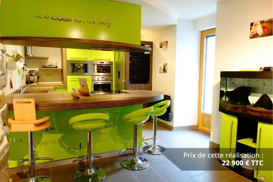 cuisine sur mesure laquee vert img 8 e1608046164926 - Cuisine sur mesure laquée vert