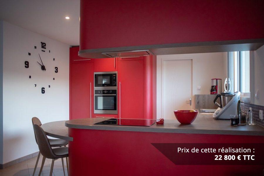 cuisine sur mesure rouge avec finitions cintrees img 3 e1608046062903 - Cuisine sur mesure rouge avec finitions cintrées