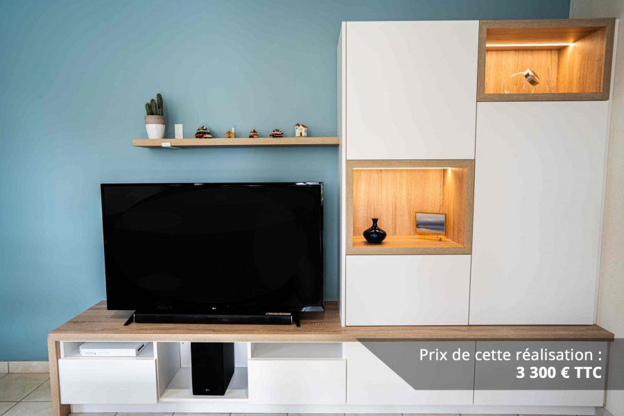 meuble tv sur mesure blanc chene img 1 e1608045705338 - Meuble TV sur mesure blanc & chêne