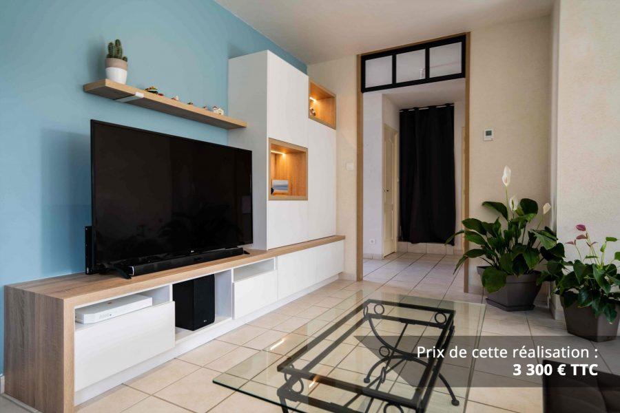 meuble tv sur mesure blanc chene img 2 e1608045715754 - Meuble TV sur mesure blanc & chêne