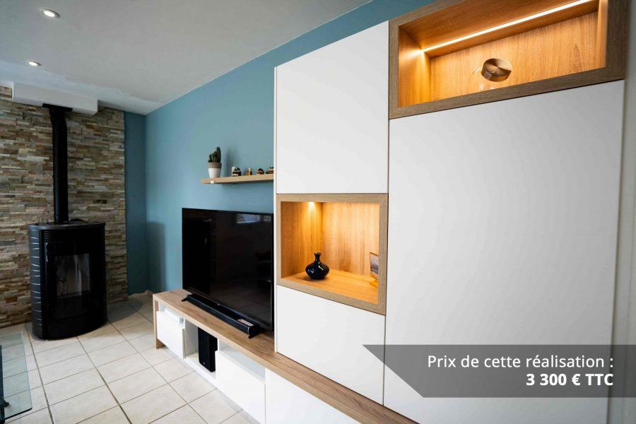 meuble tv sur mesure blanc chene img 3 e1608045725739 - Meuble TV sur mesure blanc & chêne