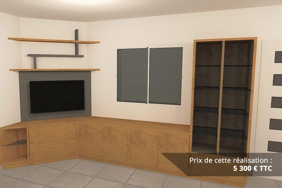 meuble tv sur mesure en chene 1 e1608045798645 - Meuble TV sur mesure en chêne
