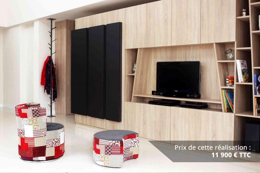 module tv sur mesure chene bardolino et cuir img 1 e1608045593766 - Module TV sur mesure chêne bardolino et cuir
