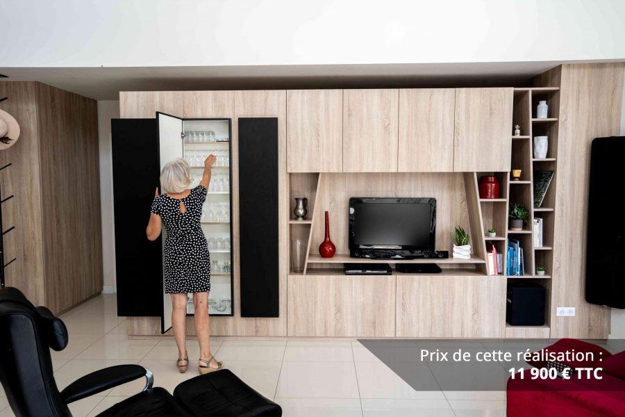 module tv sur mesure chene bardolino et cuir img 4 e1608045623555 - Module TV sur mesure chêne bardolino et cuir