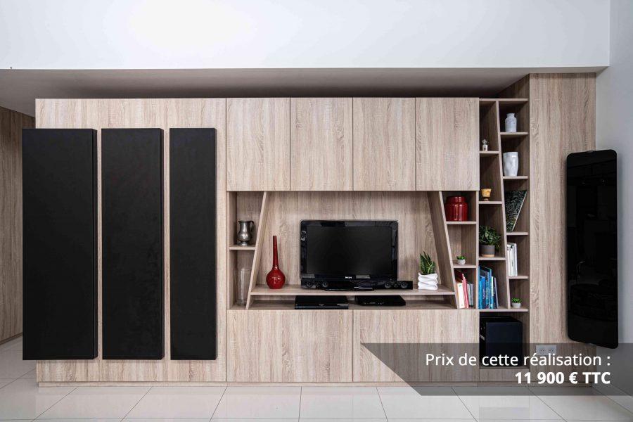 module tv sur mesure chene bardolino et cuir img 6 e1608045639270 - Module TV sur mesure chêne bardolino et cuir