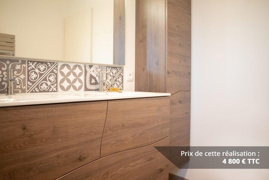 salle de bains a vagues en chene fonce img 7 - Salle de bains à vagues en Chêne foncé