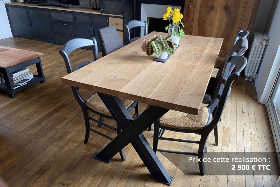 table de sejour chene metal img 1 e1608045857381 - Table de séjour chêne & métal