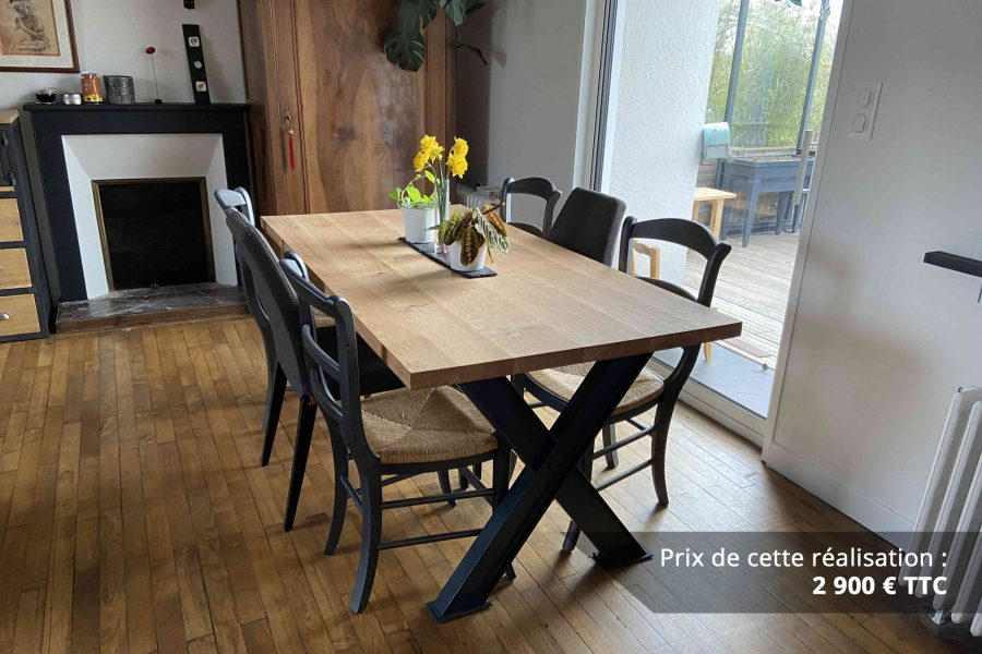 table de sejour chene metal img 2 e1608045866788 - Table de séjour chêne & métal