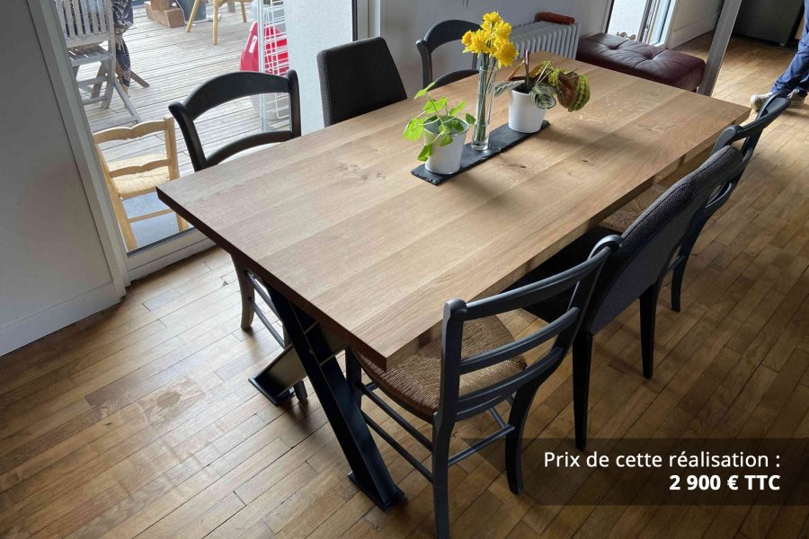 table de sejour chene metal img 3 e1608045875963 - Table de séjour chêne & métal