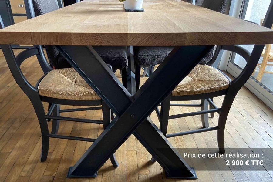 table de sejour chene metal img 4 e1608045884791 - Table de séjour chêne & métal