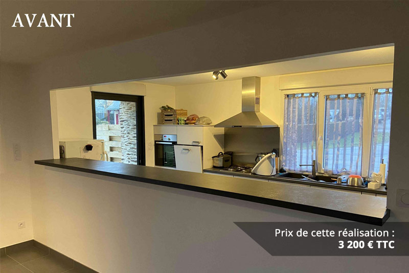 verriere coulissante en chene entre cuisine et sejour img 1 - Verrière coulissante en chêne entre cuisine et séjour
