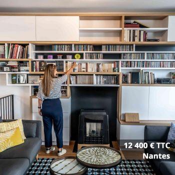 12400 nantes - Aménagement bibliothèque sur mesure
