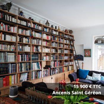 15900 Saint Gereon - Aménagement bibliothèque sur mesure