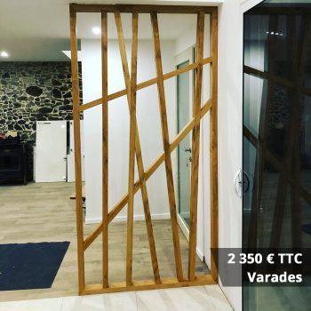 2350 Varades - Claustra mural chêne huilé