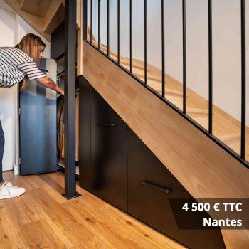 4500 nantes - Aménagement sous-escalier sur mesure